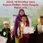 Alhamdulillah, Sekolah Islam Diponegoro Kembali Ukir Presatasi di Kids Moslem Festival 2017