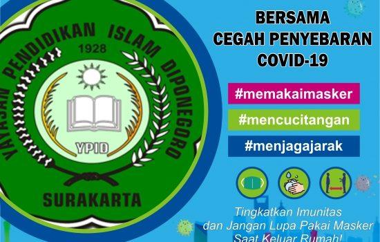 Bersama Cegah Penyebaran Covid-19 (SMP Islam Diponegoro Surakarta)